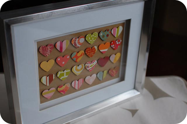 Hearts Aflutter Picture Frame - 33 Shades of Green
