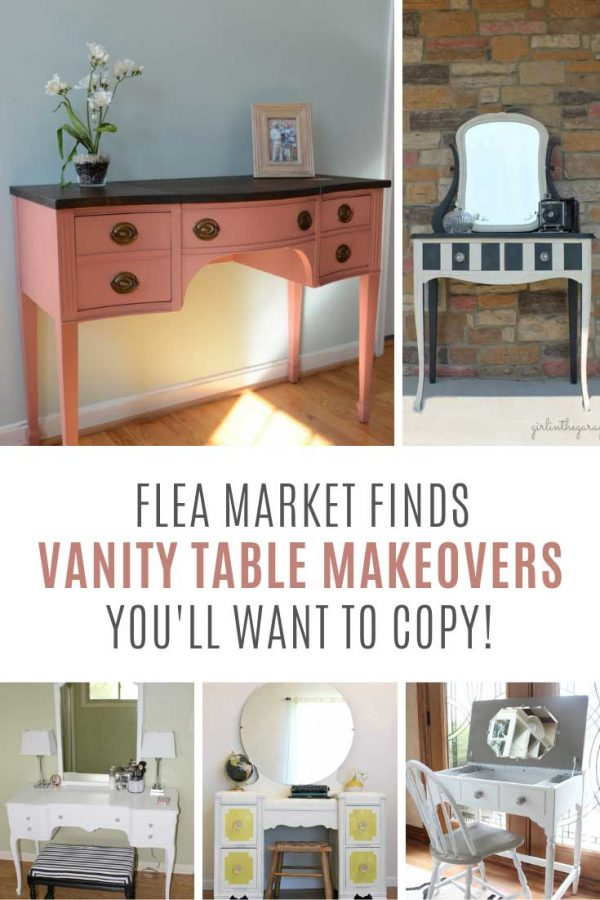 I need to go find me a vanity table to makeover at the flea market this weekend!