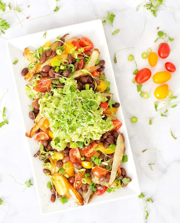 Vegan Mexican Loaded French Fries