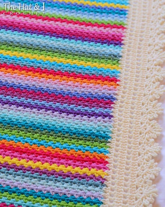 Vintage Blanket Crochet Pattern Close UP
