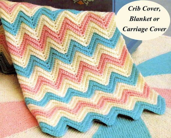 Vintage Ice Cream Baby Blanket Crochet pattern