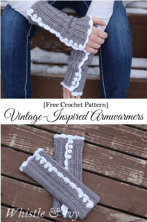 Vintage Inspired Armwarmers Crochet Pattern