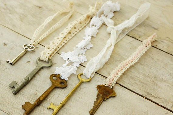 Vintage Keys Ornaments