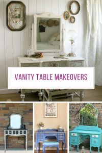 In love with these vintage vanity table makeovers! Thanks for sharing!