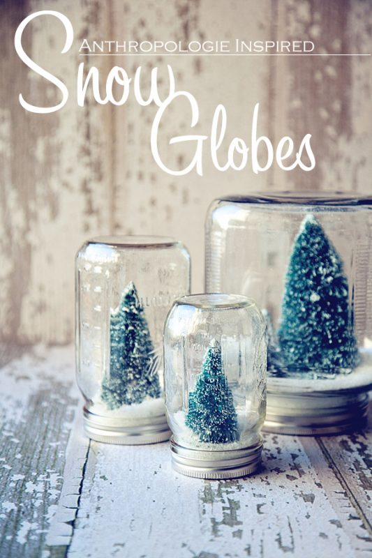You can never have too many snow globes and these are simply beautiful!