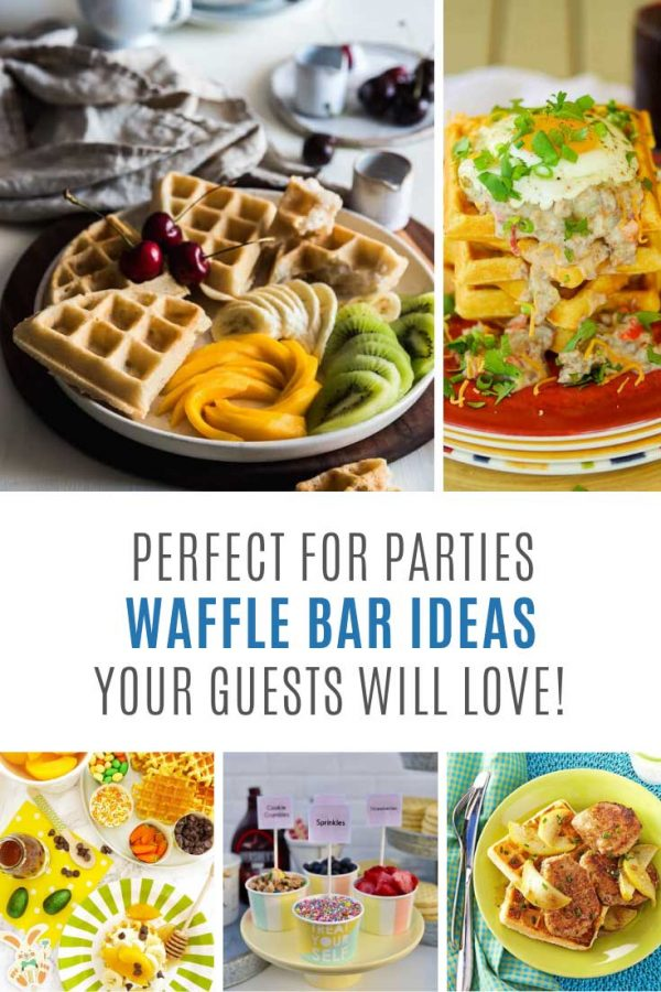 Loving these waffle bar ideas! They're perfect for parties and baby showers!