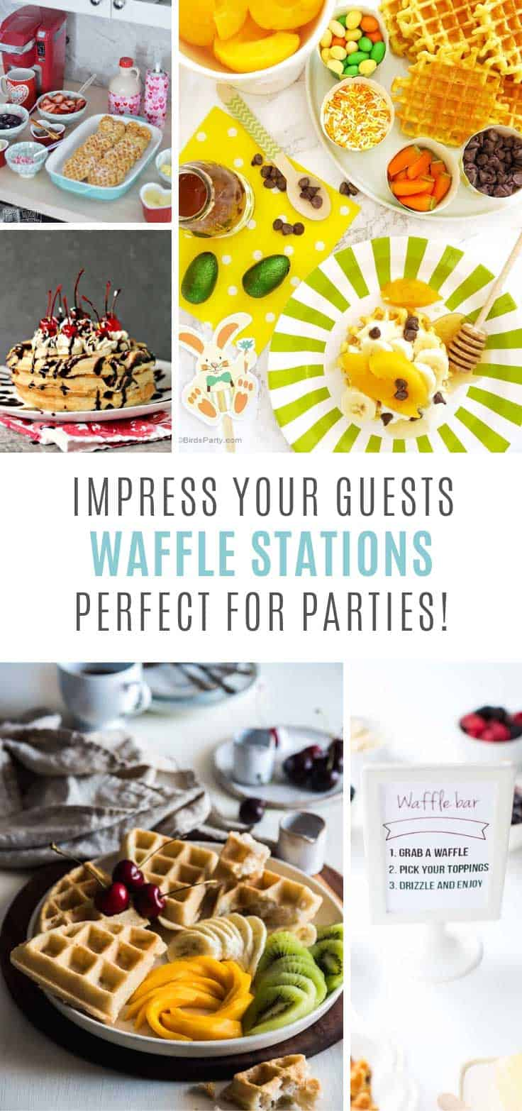 Oh my - guests will LOVE these waffle station ideas!