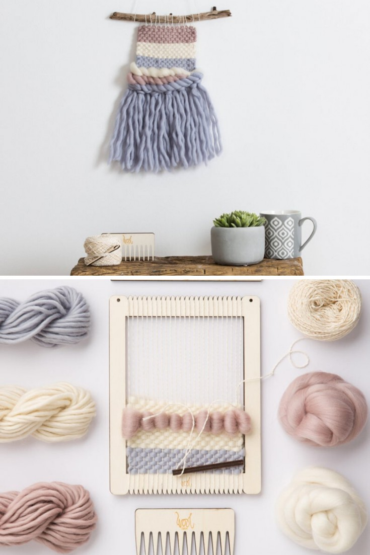 Weave a fabulous wall hanging with this kit