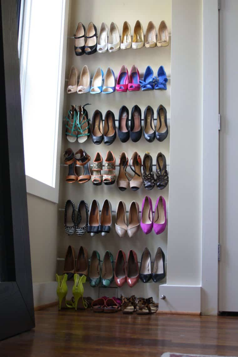 Wall Shoe Storage Hack