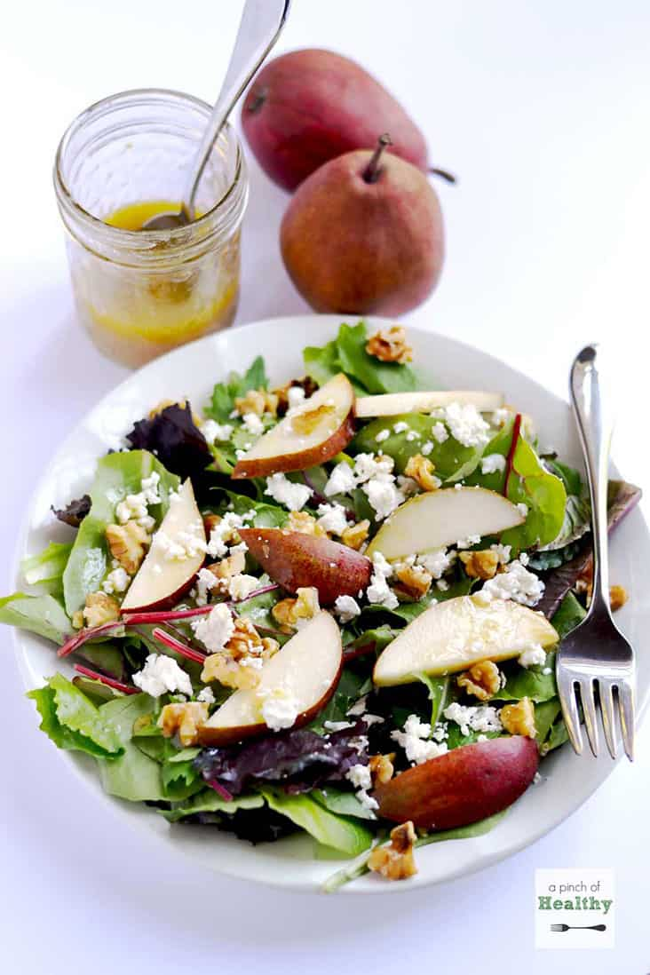 Pear, Goat Cheese and Walnut Salad
