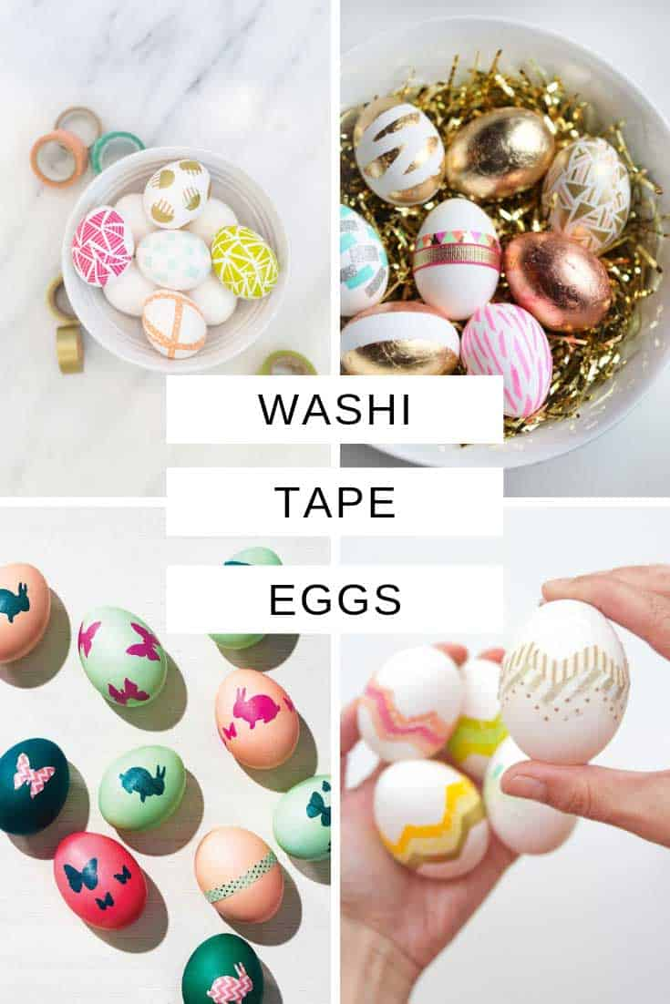 If you're Easter traditions are not complete without a bowl of pretty decorated eggs on your table you are going to love today's collection! We've been out searching for the best washi tape Easter egg designs we could find.