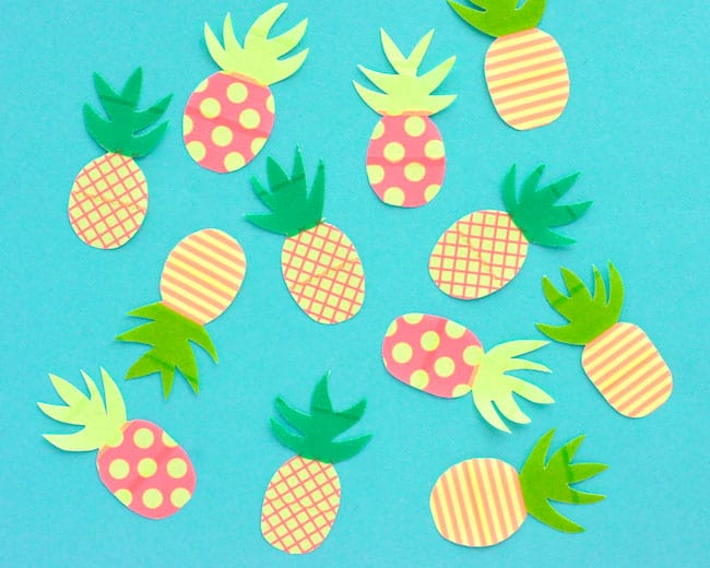 Washi Tape Pineapples