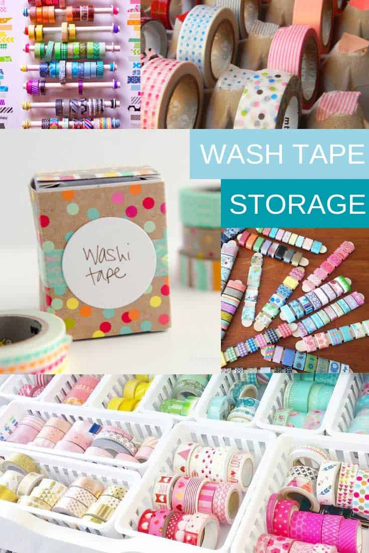 If your Japanese tape collection is out of control it's time to make use one of these Washi Tape storage hacks to get it under control!