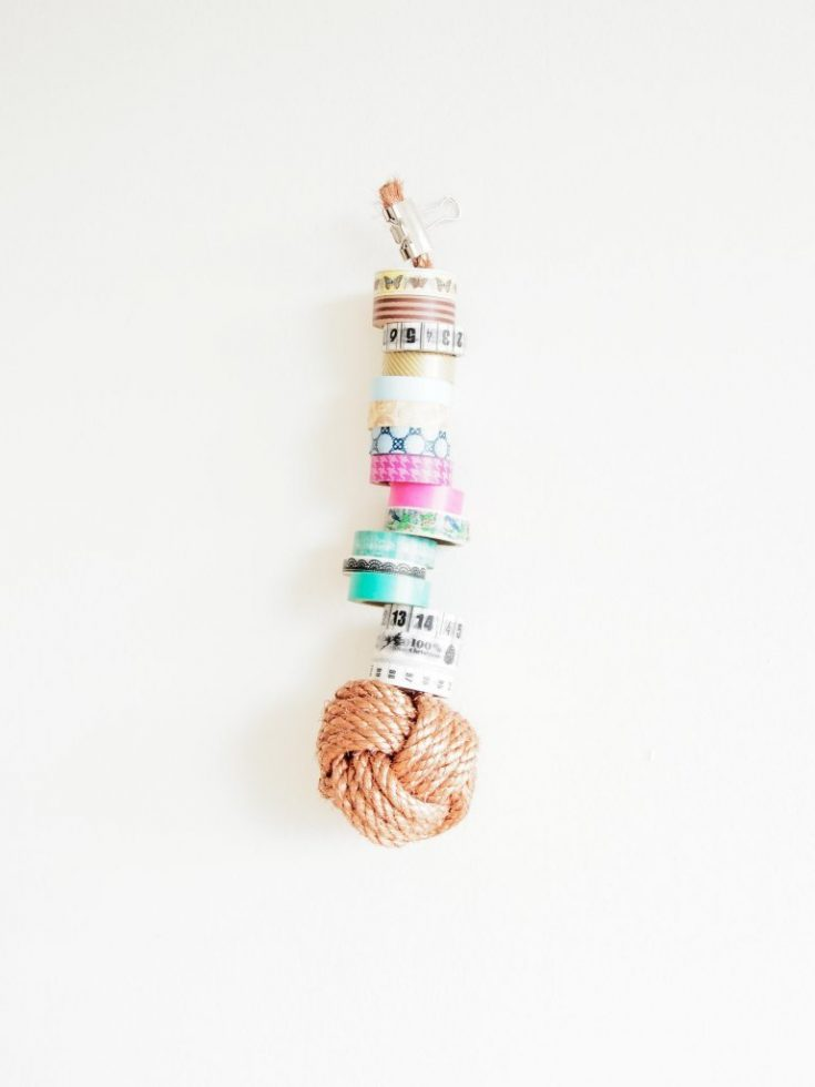 DIY Monkey Knot Washi Tape Storage