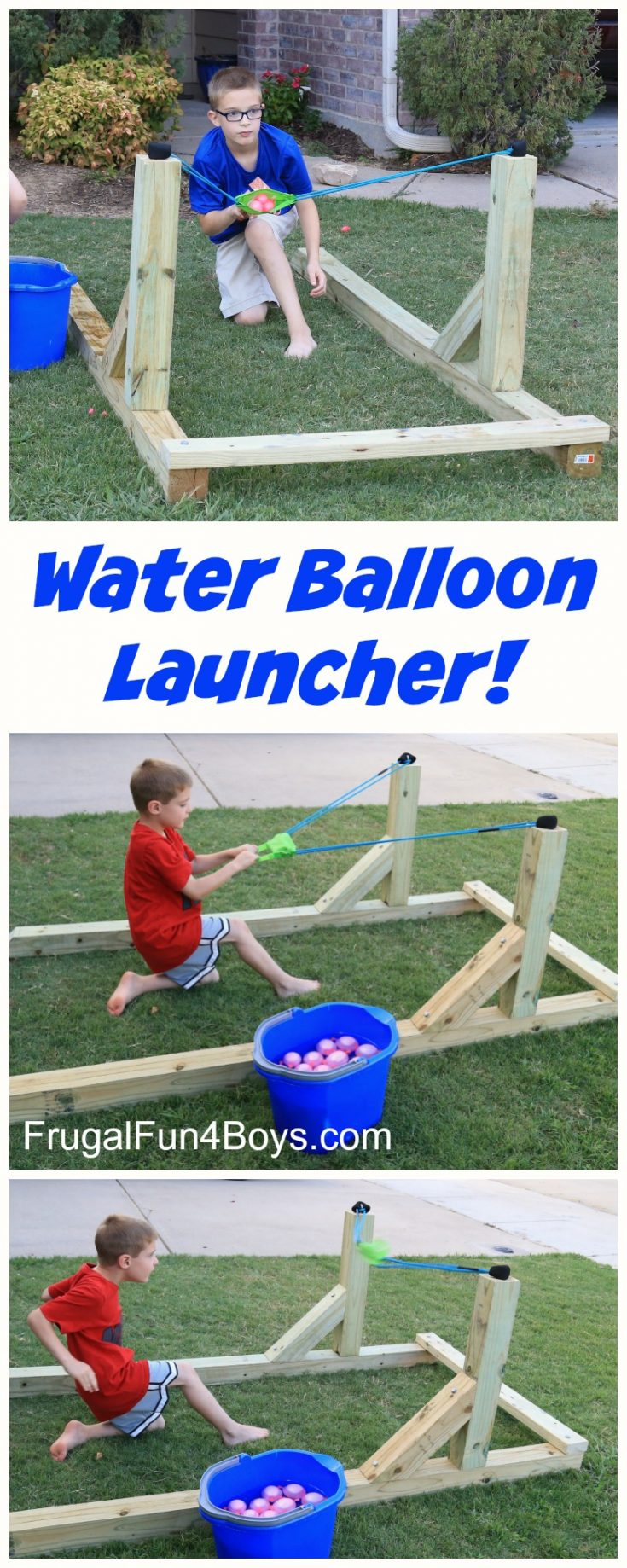 Build a Water Balloon Launcher that the Whole Family will LOVE!