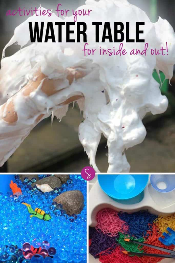 Water table activities are a great way for children to learn through play. And you don't just have to fill them with sand or water. Sensory ingredients like pasta, ice and even shaving foam can lead to hours of fun and laughter.  If you need some inspiration for water table activities for your kiddos keep reading.
