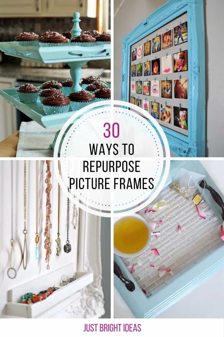 Loving all these different ways to repurpose old picture frames!