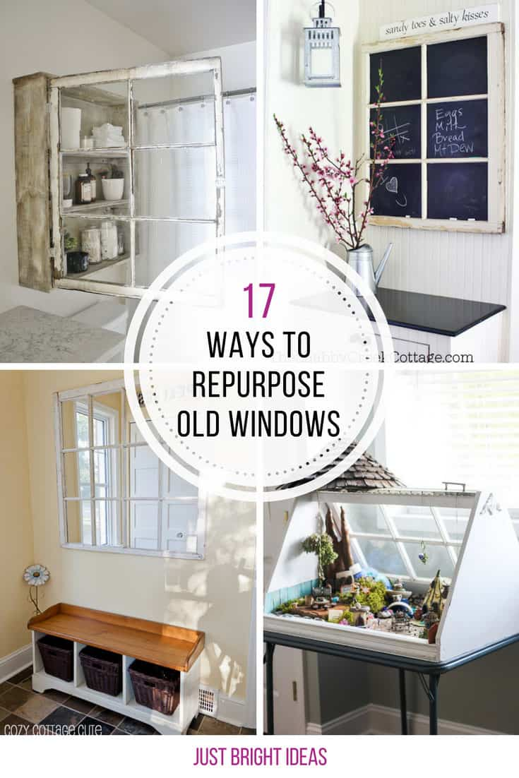 Who knew there were so many great ways to repurpose old windows!
