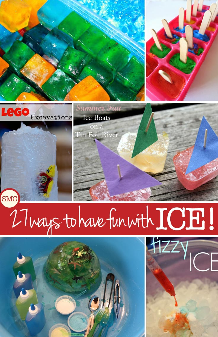 I love these ice activities for toddlers - so many ways for them to keep cool and keep learning!