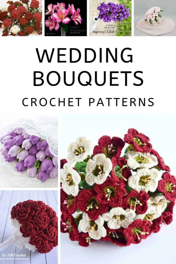 These wedding bouquet crochet patterns are fabulous and so unique!