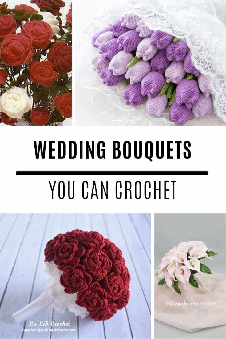 Just STUNNING! You will have to look twice to see that these wedding bouquets are made from crochet flowers!