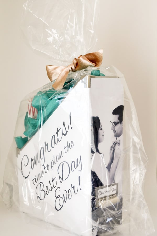 Wedding Planning Engagement Gift Basket