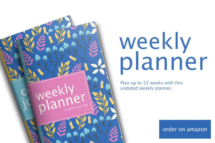 Get orgainzed with this weekly planner