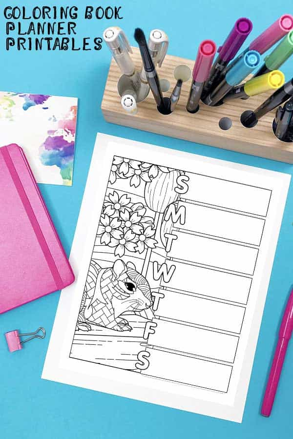 Get organized this May with this fabulous coloring planner printable set.
