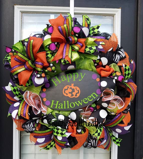 Whimsical Halloween Door Wreath