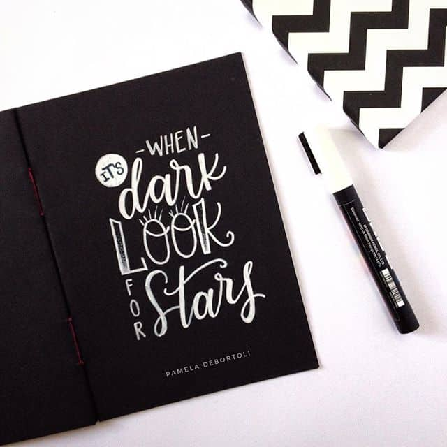 White on Black Typography