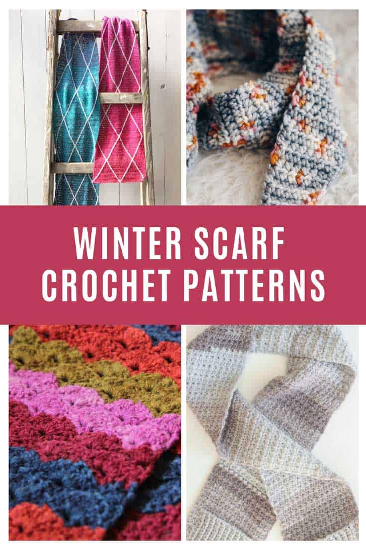 Totally in love with these winter scarf crochet patterns and they're free too!