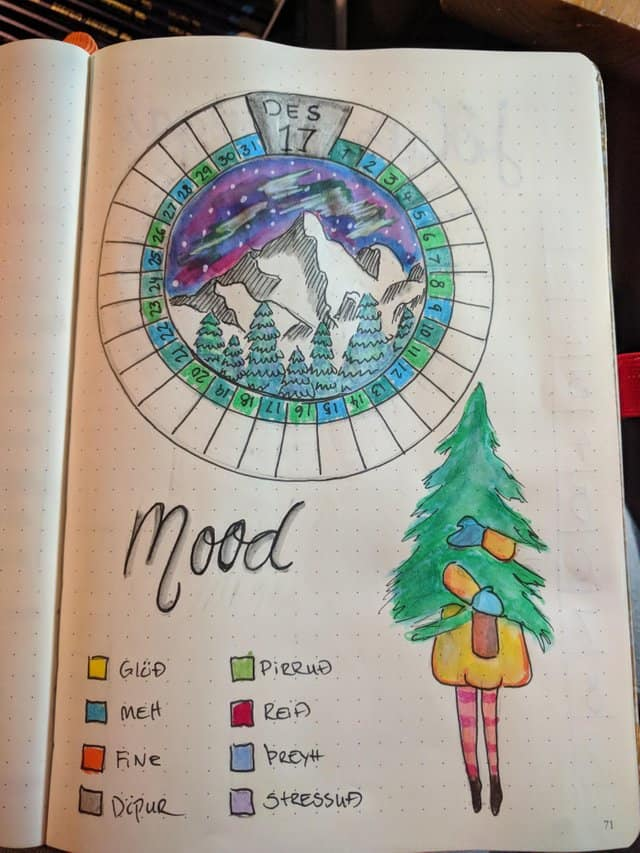 Winter Scene Mood Tracker
