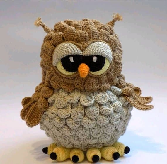 Wise Crochet pattern Owl,