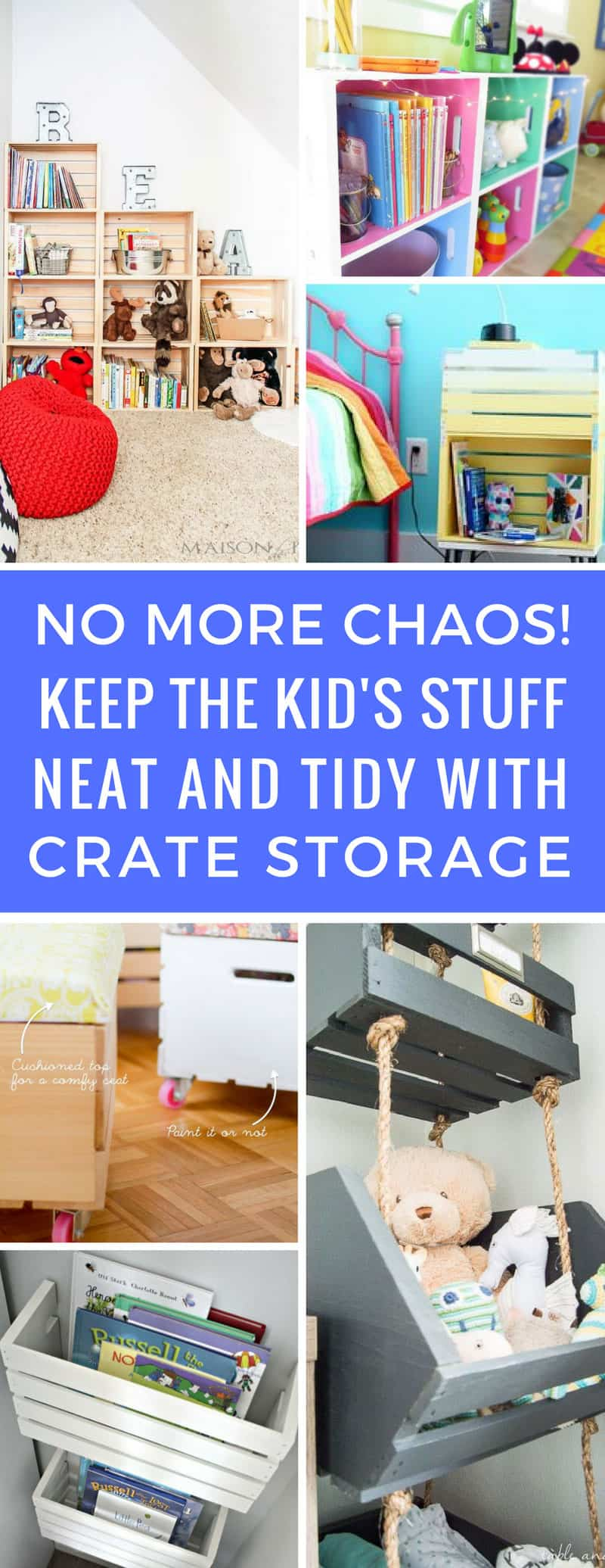Love these wooden crate storage ideas for kids! I'm always tripping over the kid's stuff and now it can look neat and tidy and not cost the earth! Thanks for sharing!