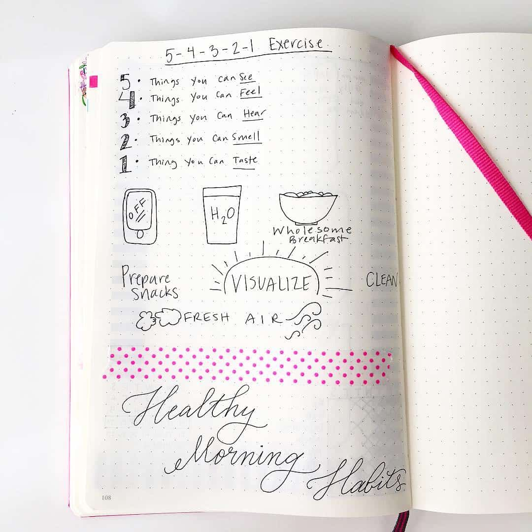 Write out your healthy morning habits