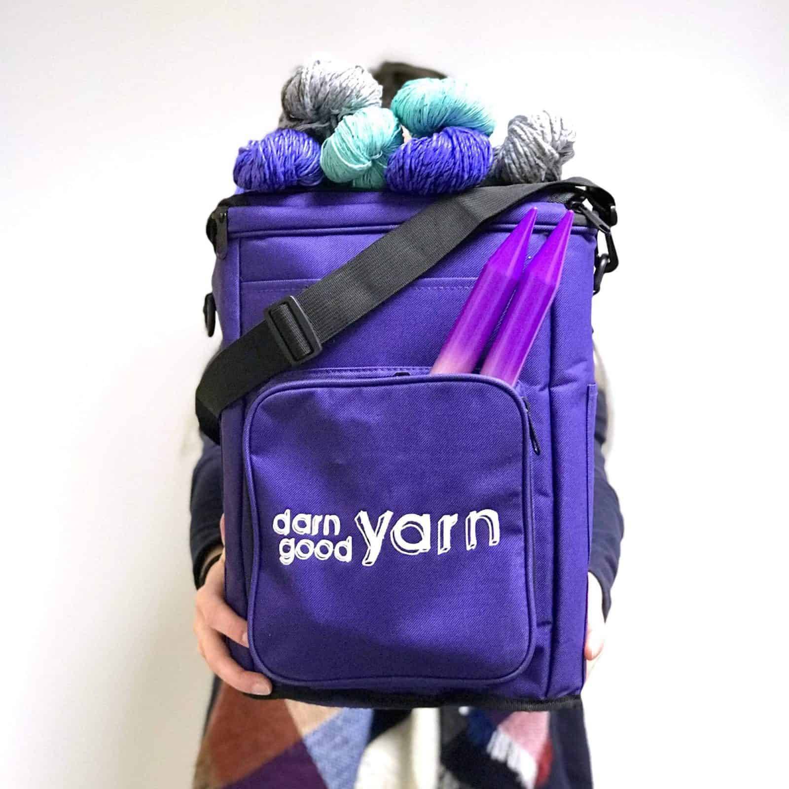 Yarn Storage Bag Bundle Purple
