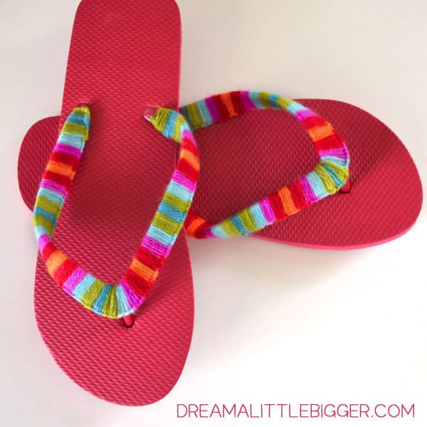 Yarn Wrapped Flip Flops