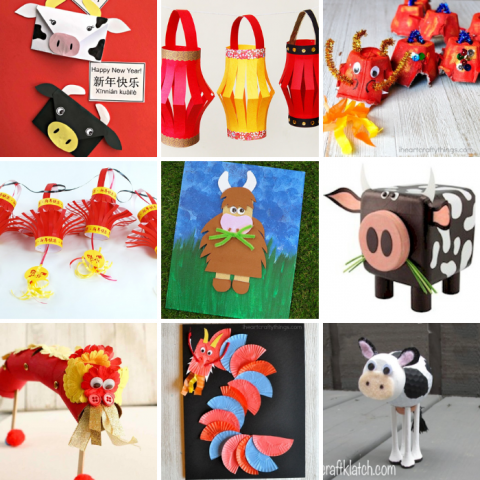 16 Fun Chinese New Year Craft Ideas – 2021 Year of the Ox