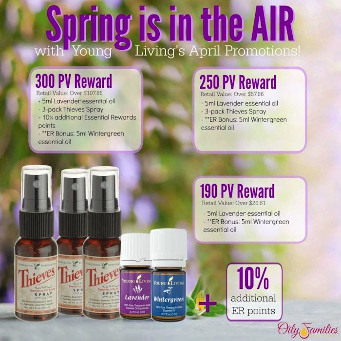 Spend a certain PV each month and Young Living sends a gift with your order