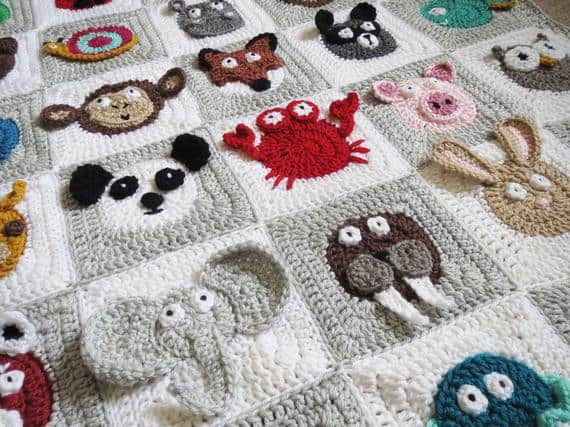 Zookeeper Granny Square Crochet Patterb