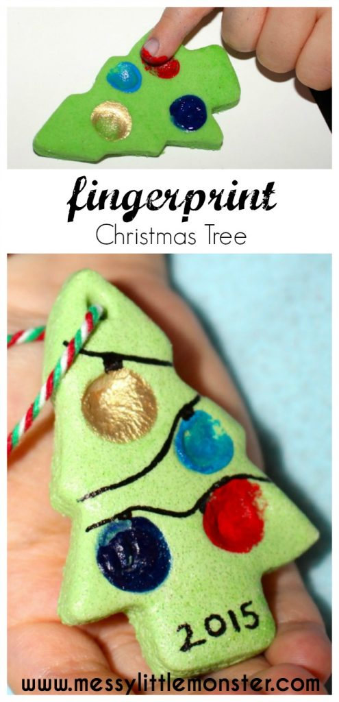A Fingerprint Christmas Tree Ornament