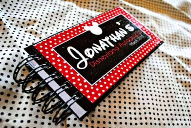 Turn an Index Card Book into a Personalized Disney Autograph Book