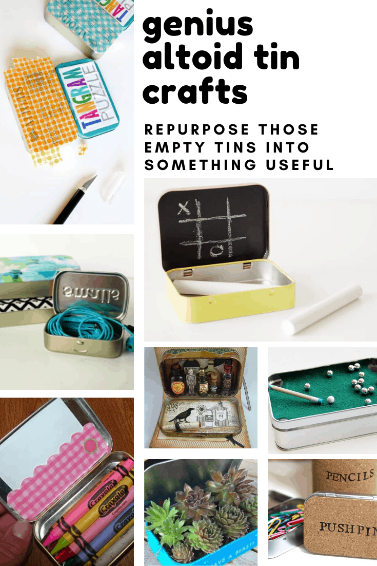 Don't throw those altoids tins away - you can repurpose them into some of these genius craft ideas!