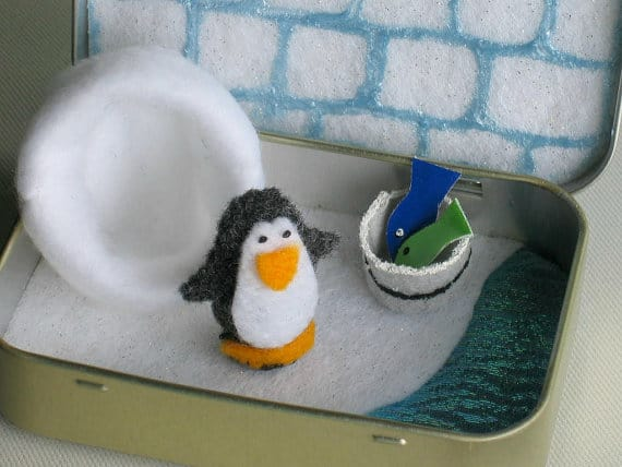 Altoid Tin Toys:  Give a penguin a home