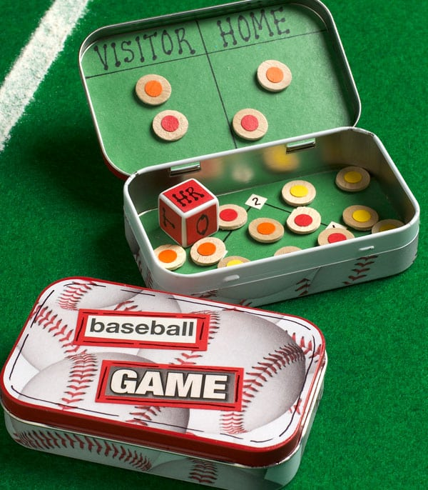Altoid Tin Toys: Make a travel baseball game