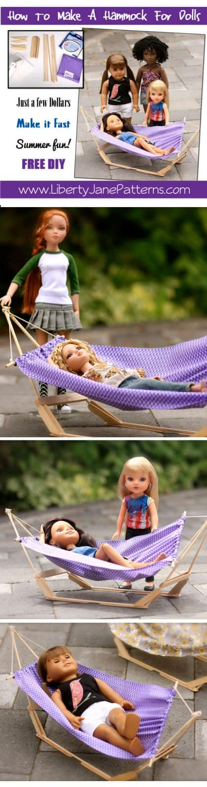 How To Make A Doll Hammock FREE DIY