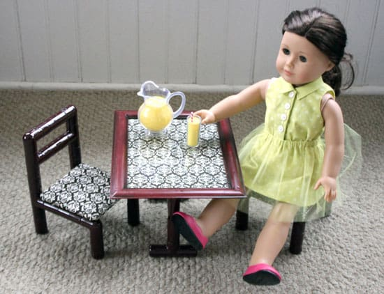 How To Make A Doll-Sized Table From A Photo Frame<