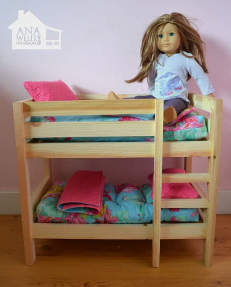 Doll Bunk Beds for American Girl Doll and 18