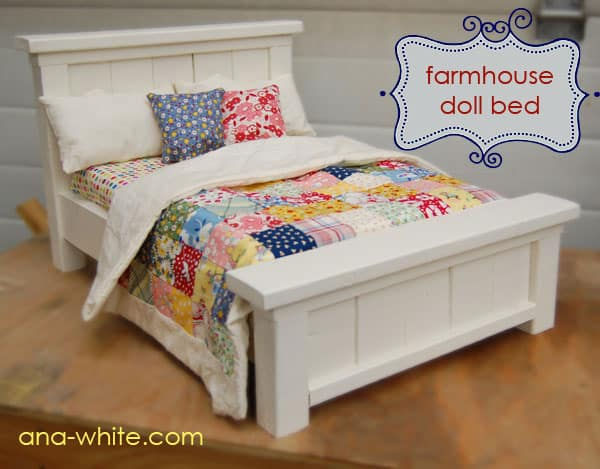 Doll Farmhouse Bed
