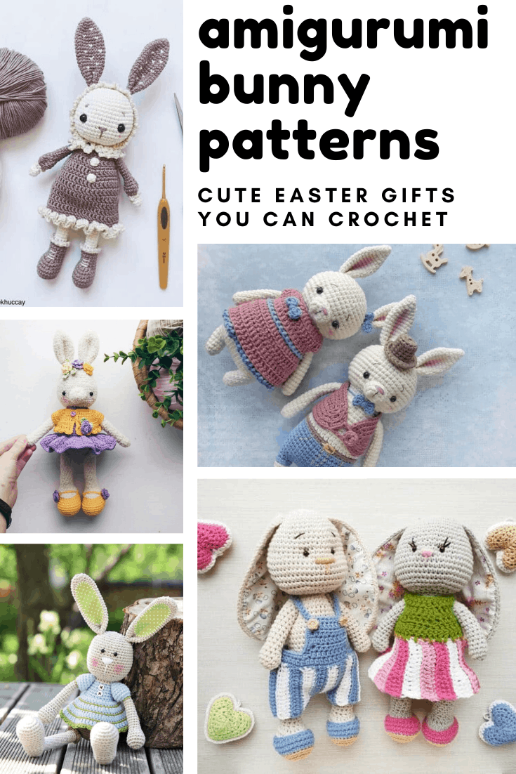 So many SWEET amigurumi bunny patterns that make wonderful handmade Easter gifts